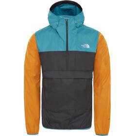 The North Face Fanorak Pullover Men asphalt grey/storm blue/citron yellow